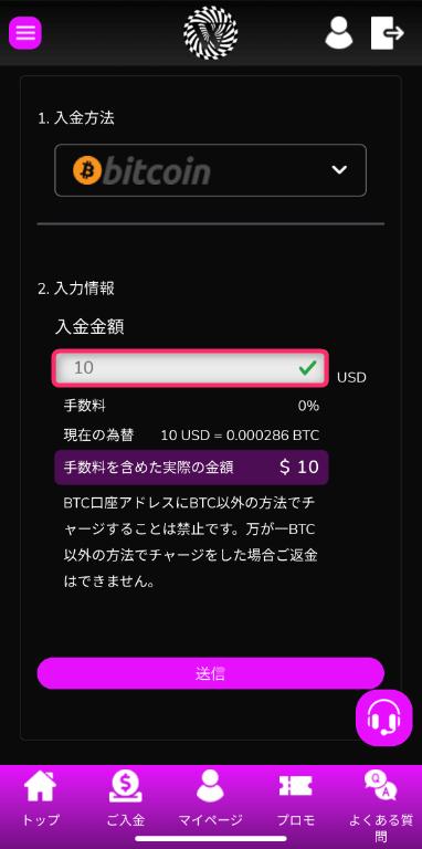 ワンダーカジノ_入金4